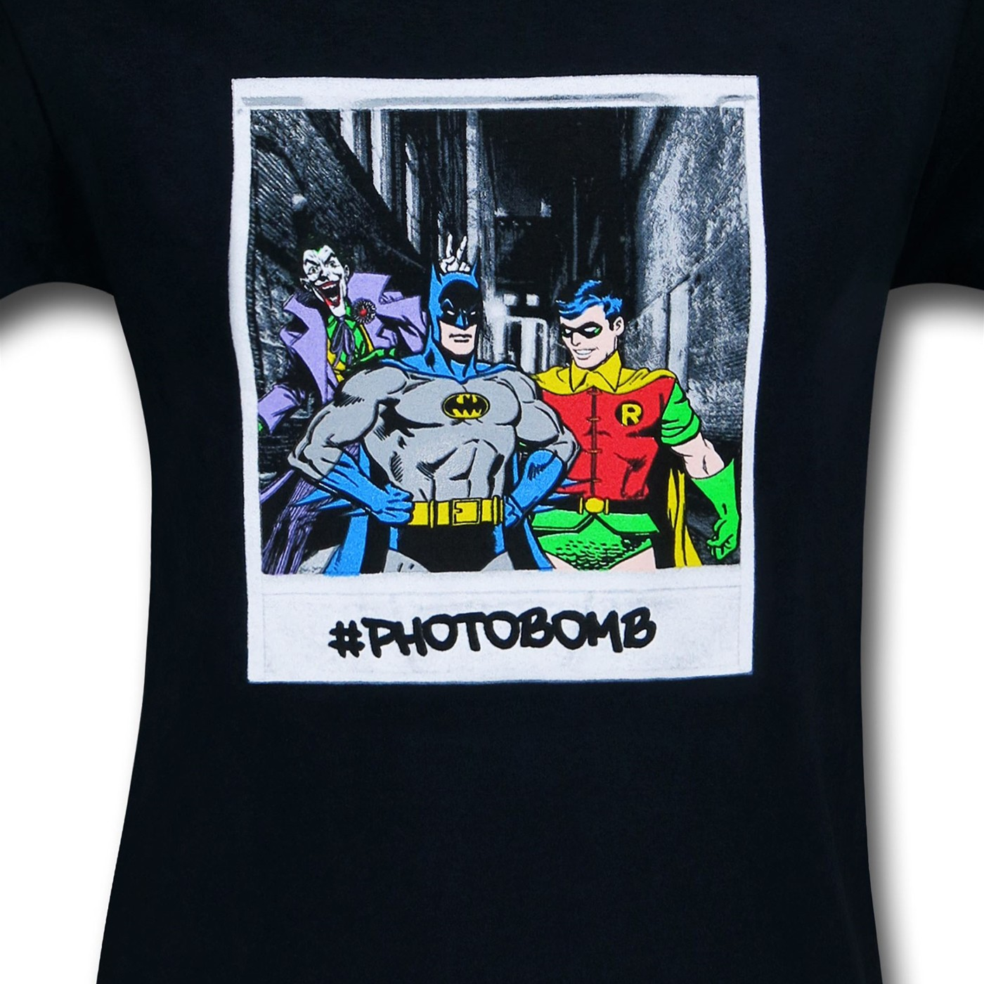 Batman & Robin Joker Photobomb T-Shirt