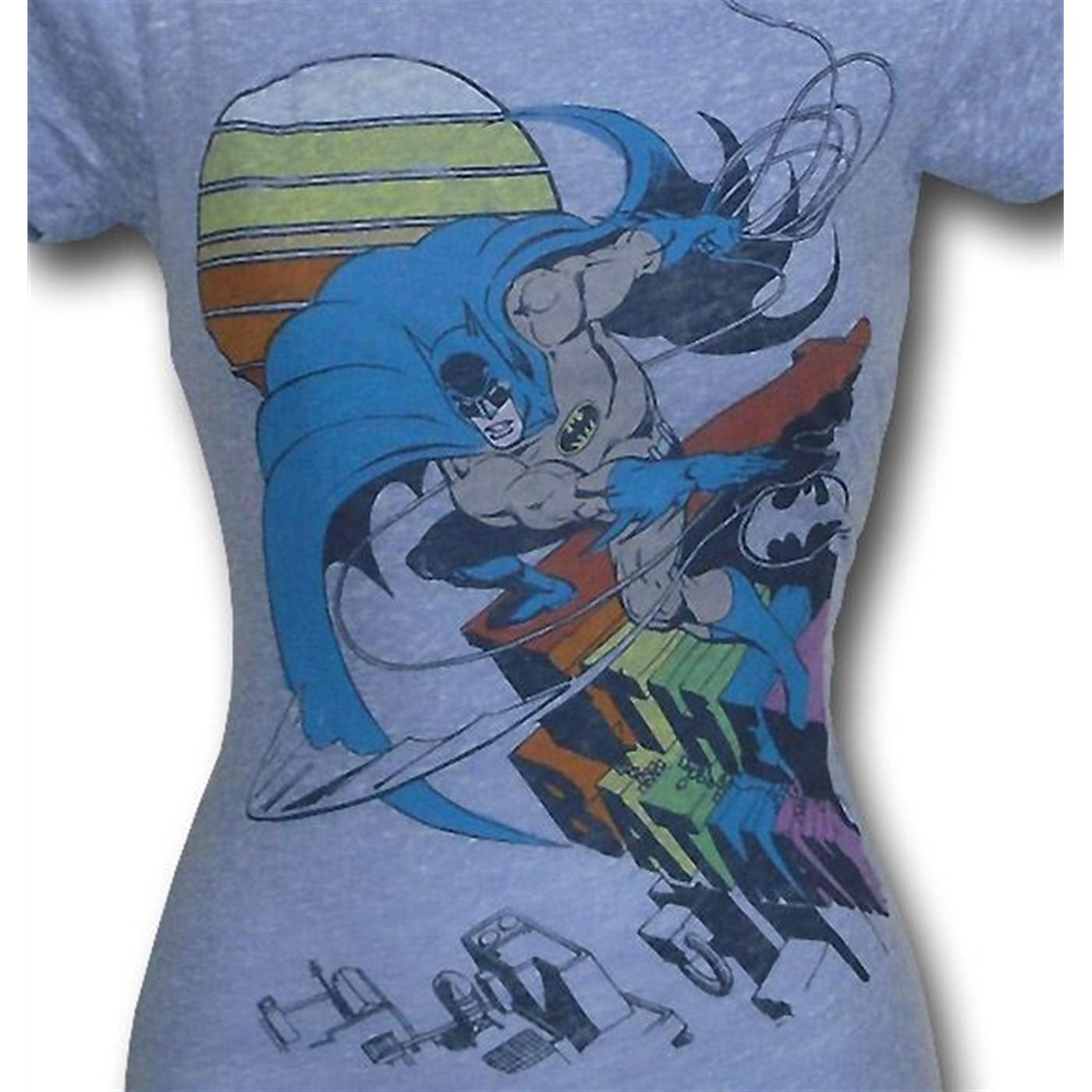Batman Shear Rainbow Juniors Junk Food T-Shirt