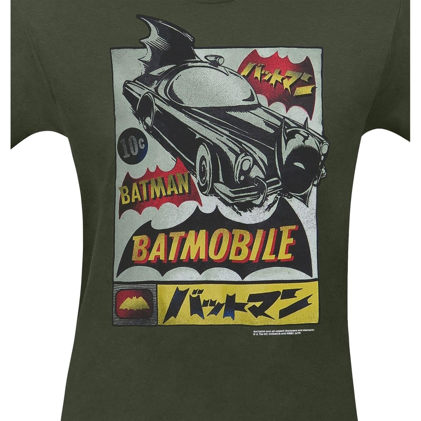 Batman Kanji Batmobile Advertisement Men's T-Shirt