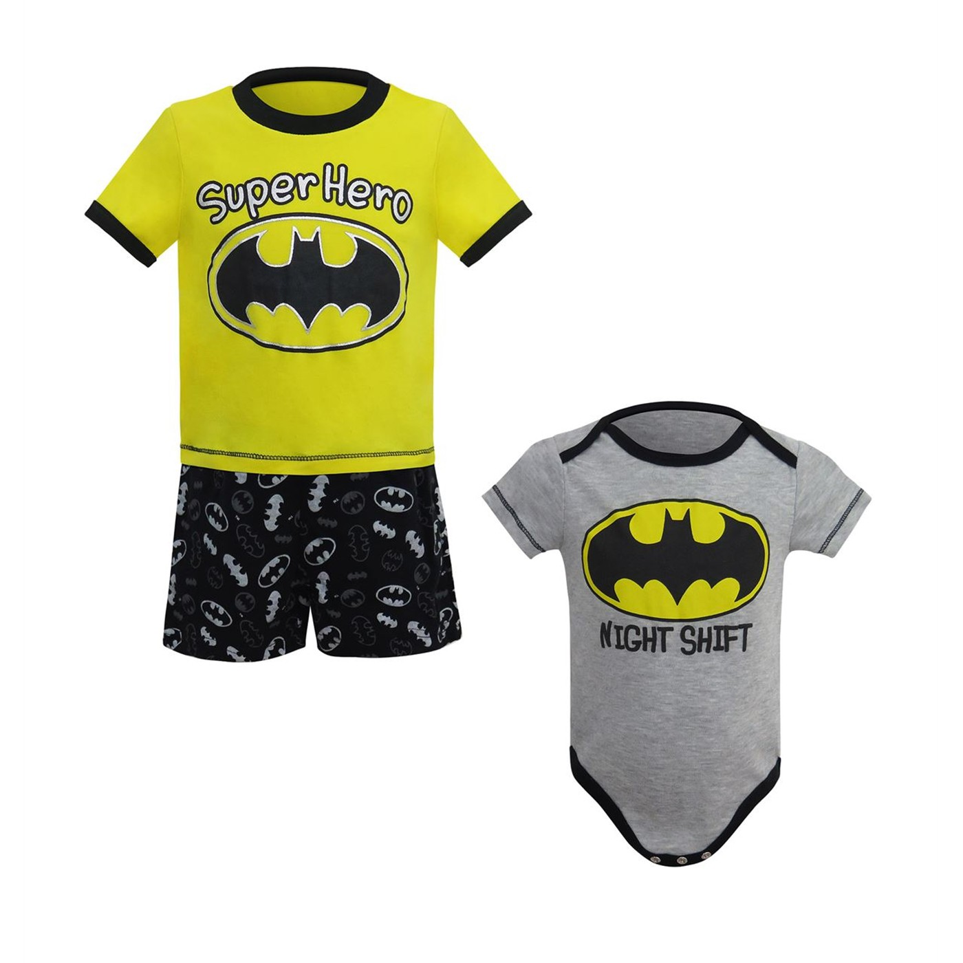 Batman Superhero Night Shift Newborn 3-Piece Set