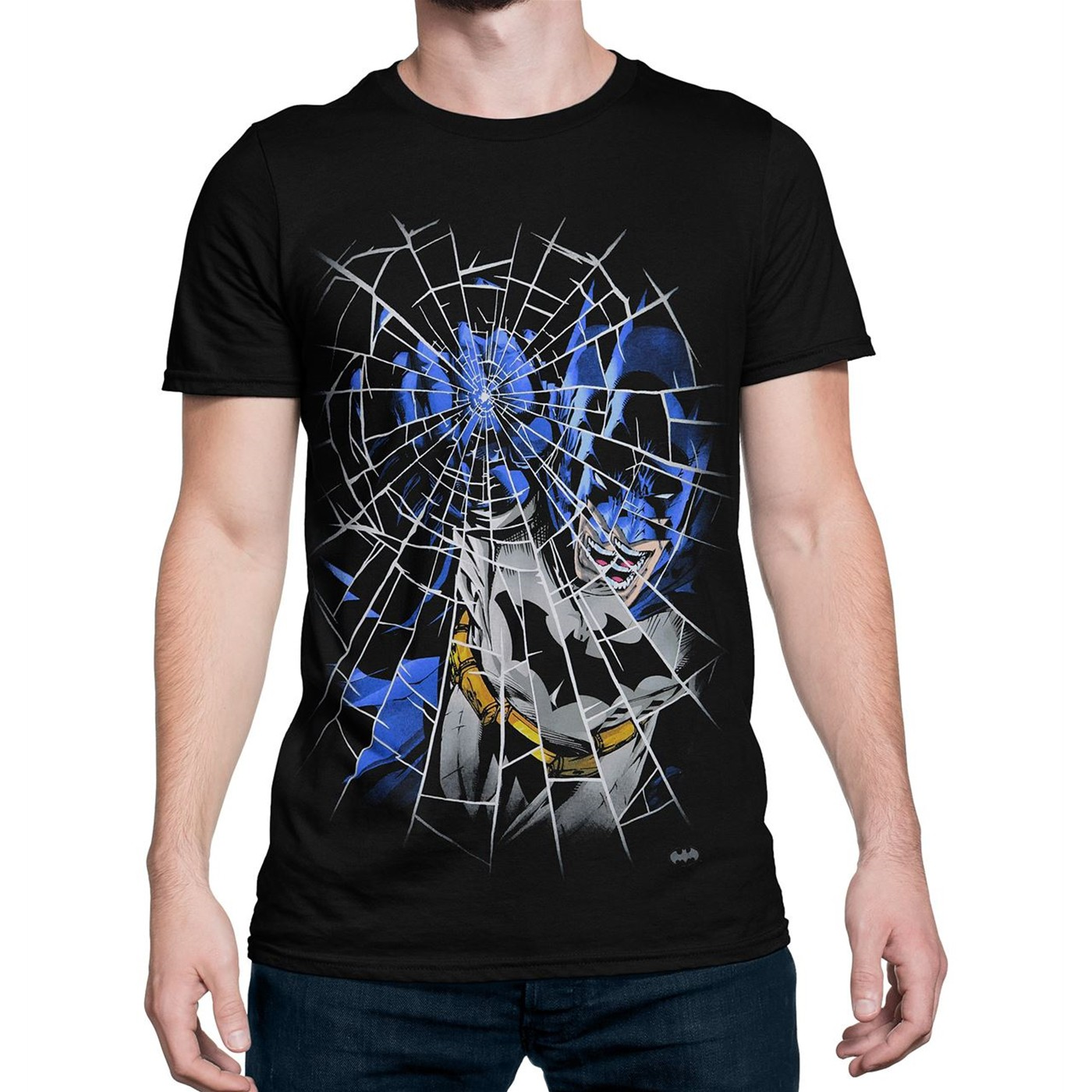 Batman Punching Glass Men's T-Shirt
