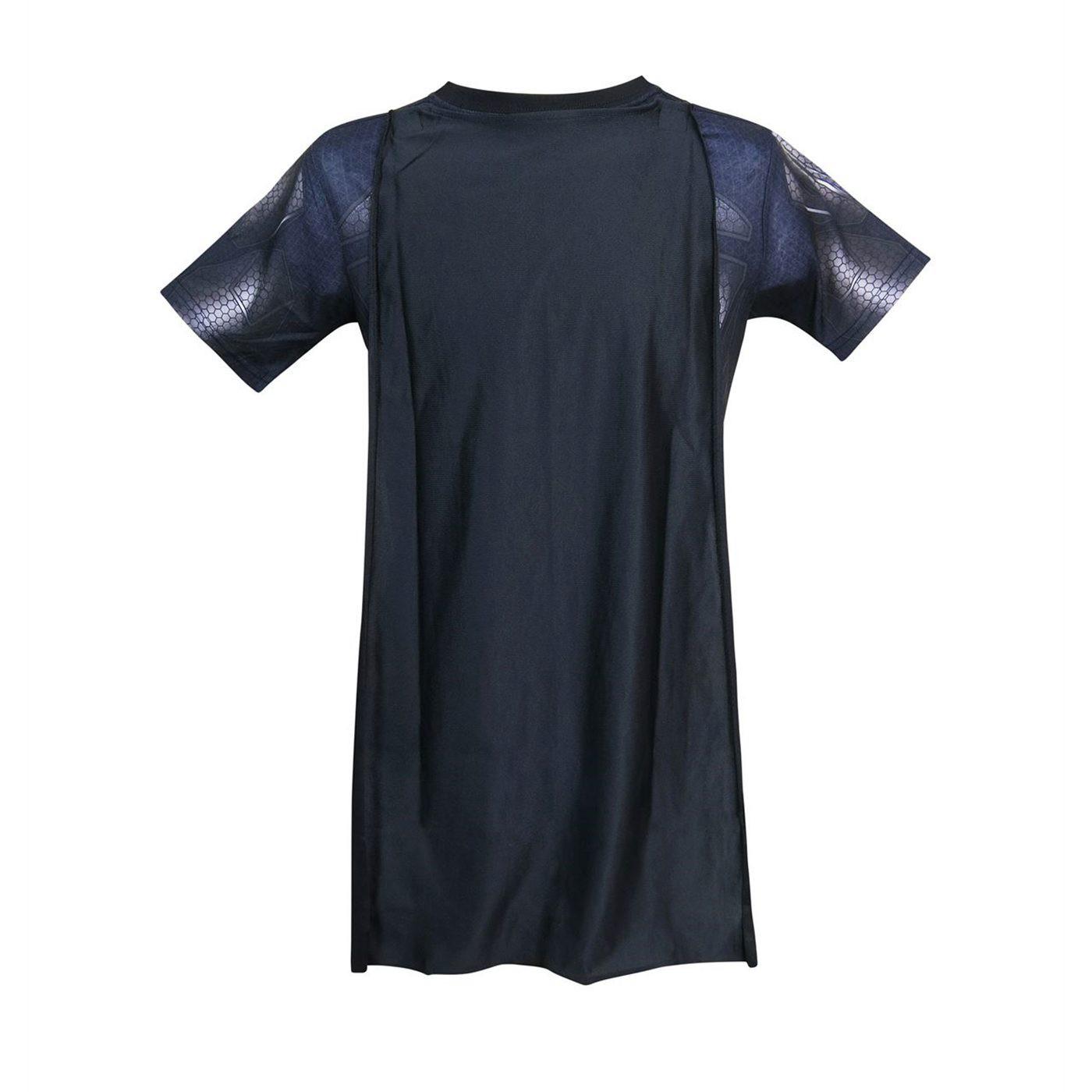Batman Suit-Up Sublimated Caped Costume Kids T-Shirt