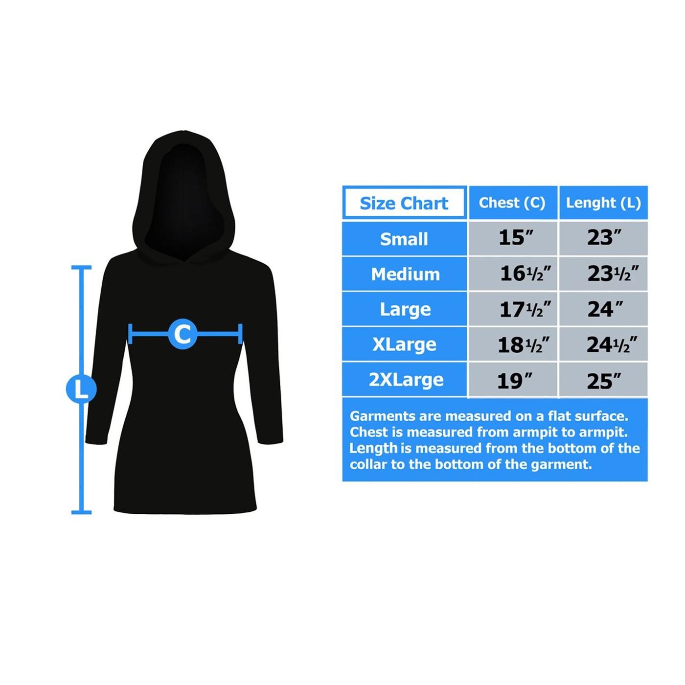 Batman Signal Women's Hooded Long Sleeve T-Shirt