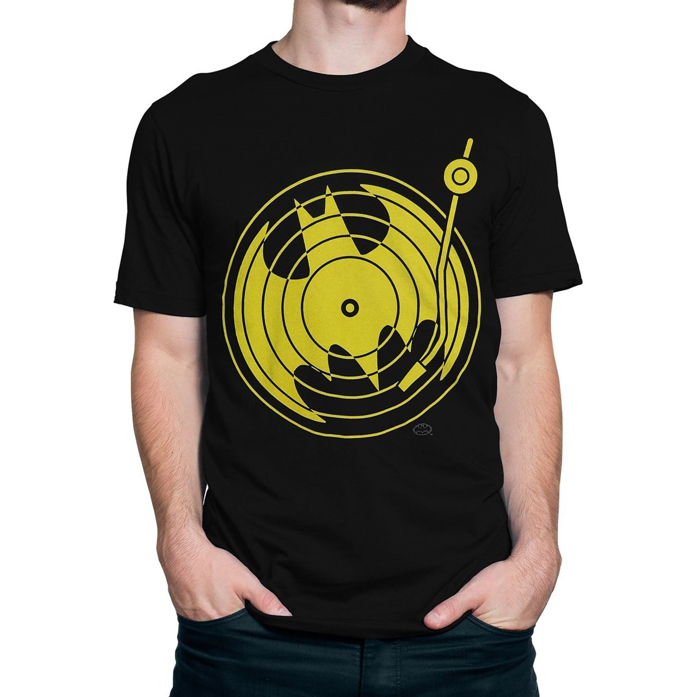 Batman Symbol Record Player Men's T-Shirt