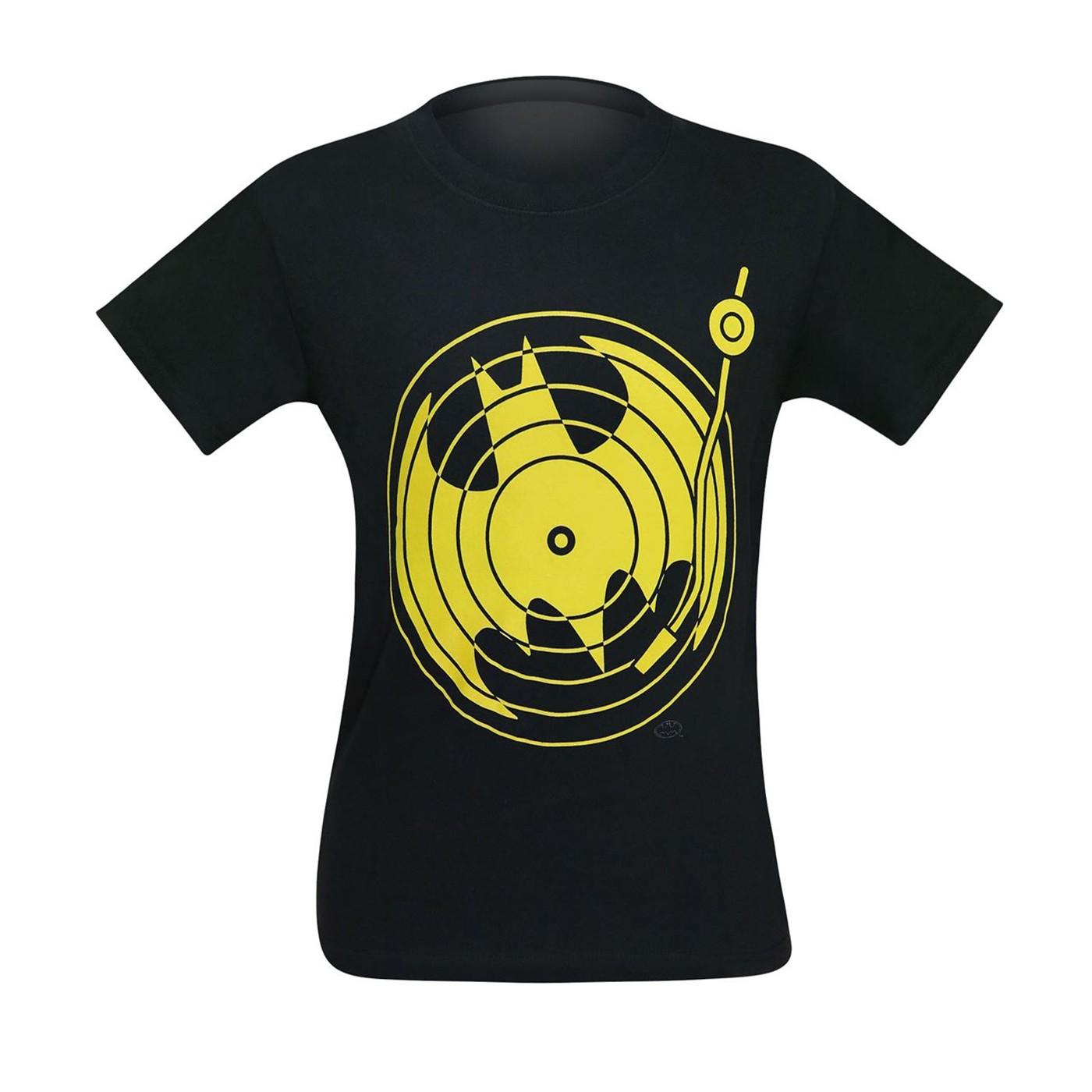 Batman Symbol Record Player Men's T-Shirt