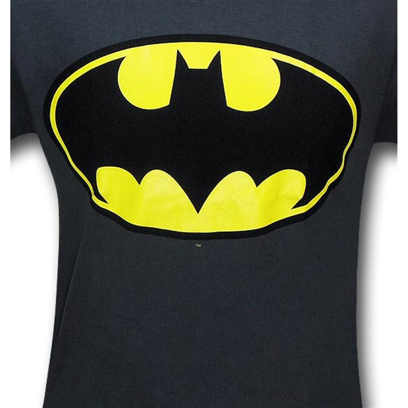 Batman Symbol Charcoal Kids T-Shirt