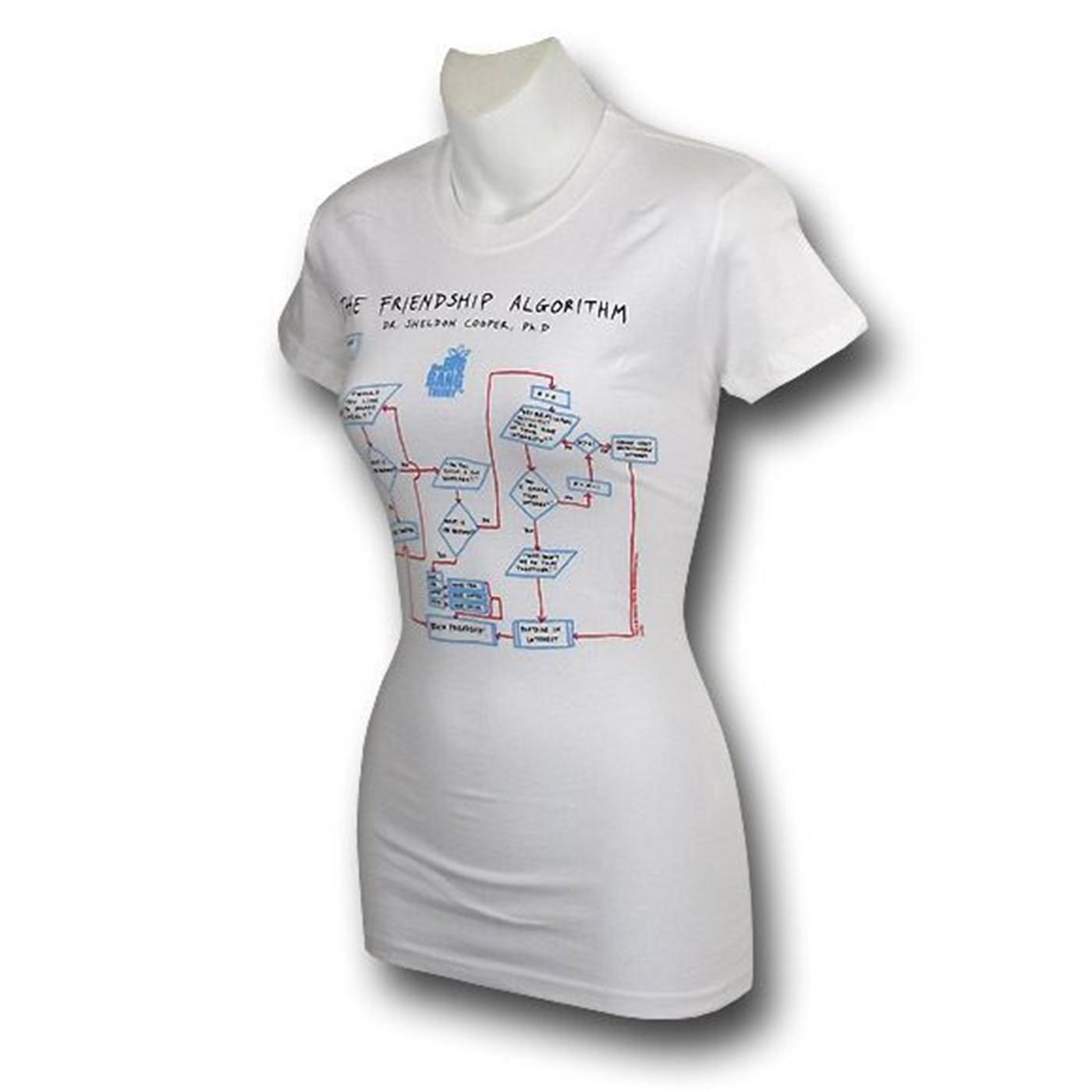 Big Bang Theory Friendship Algorithm Women's T-Shirt