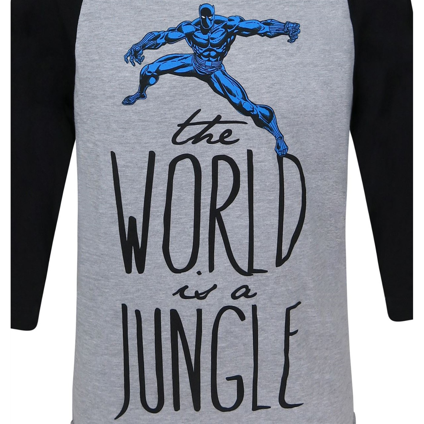 Black Panther Jungle Women's Baseball T-Shirt