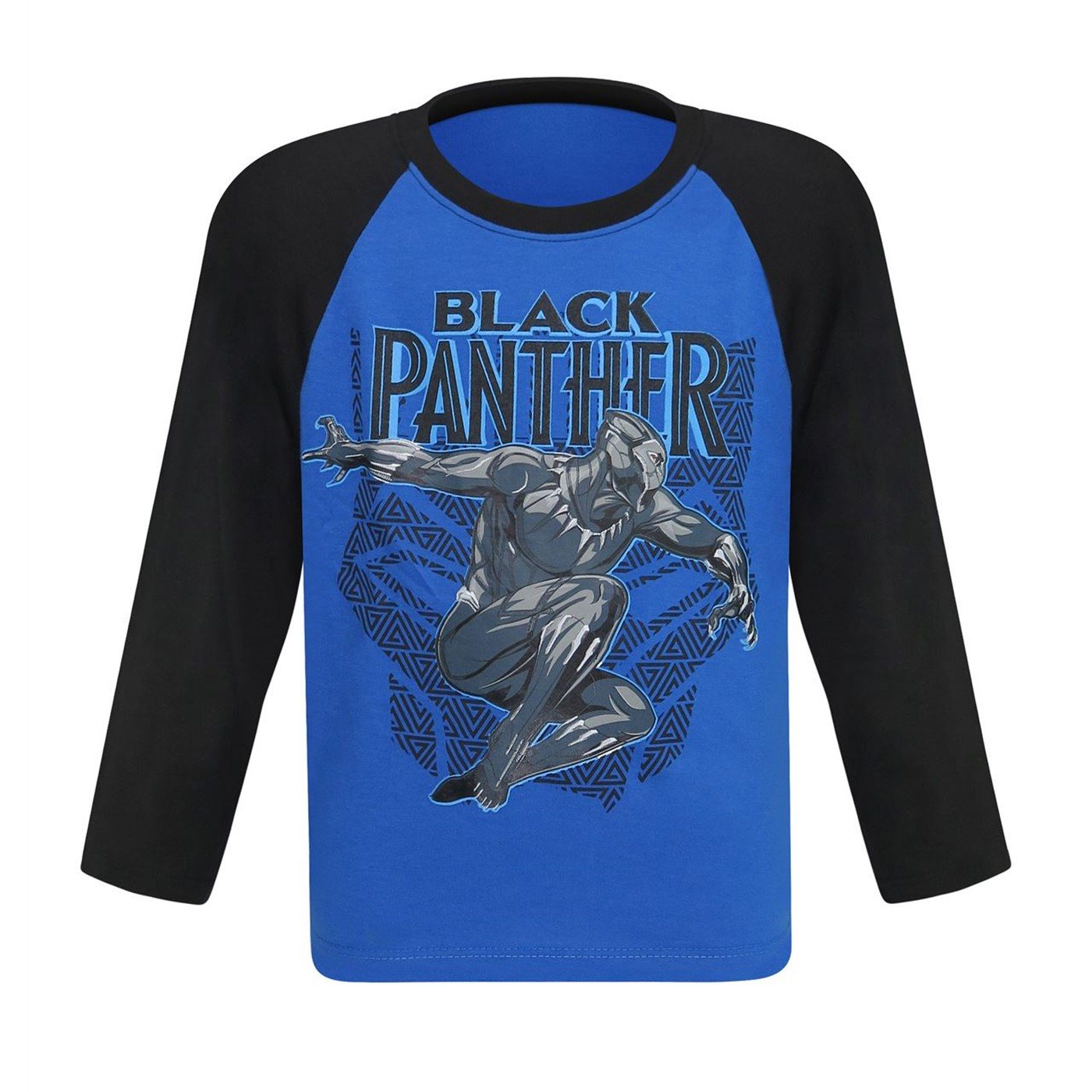 Black Panther Leap Kids Baseball T-Shirt