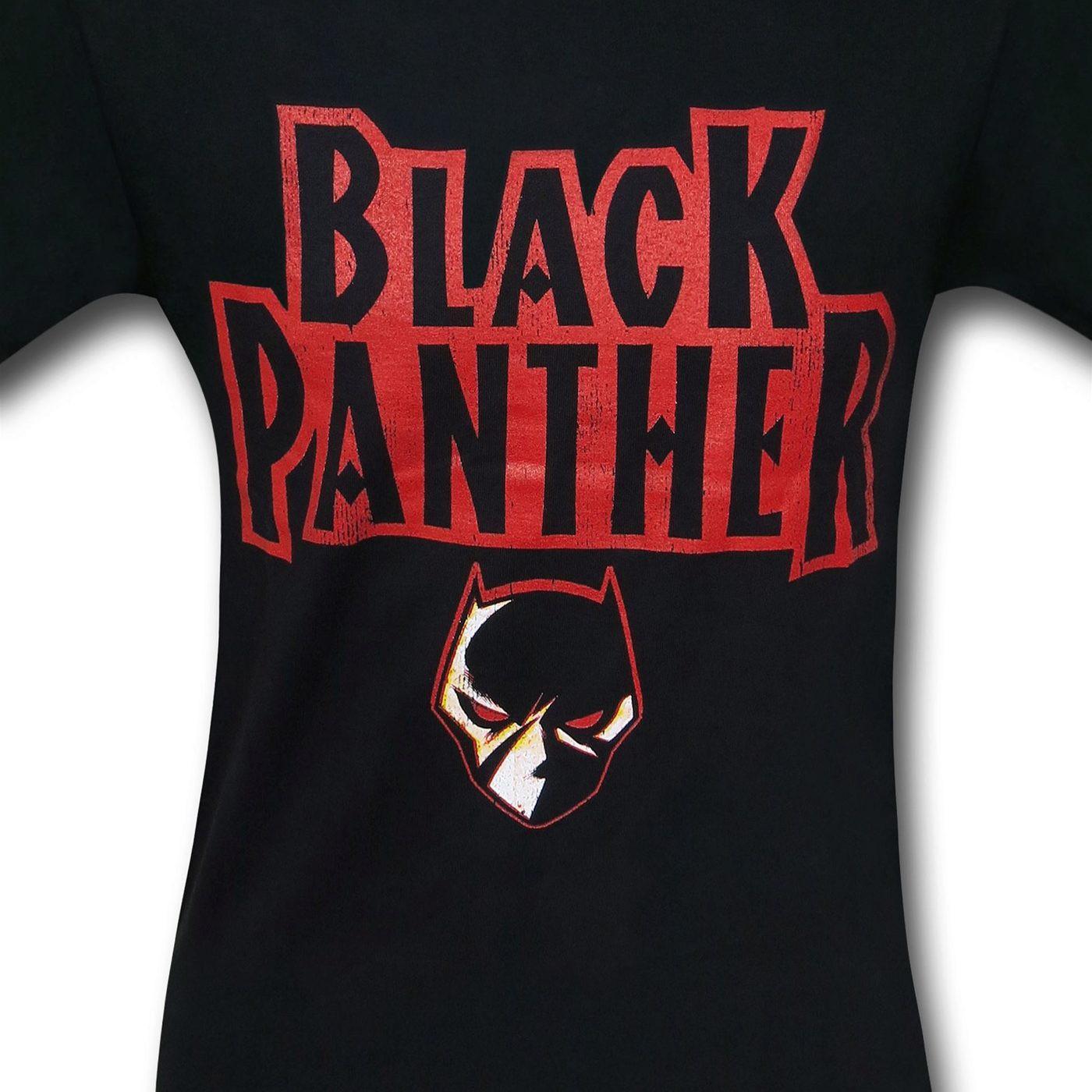Black Panther Logo Black T-Shirt