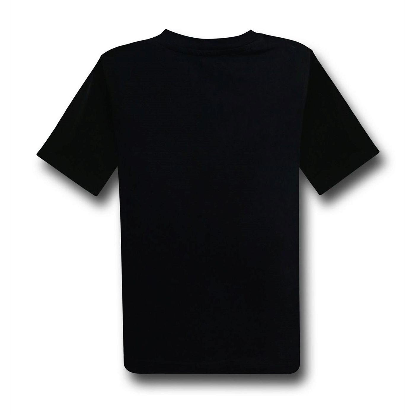 Batman V Superman Battle Kids Cut & Sew Image T-Shirt