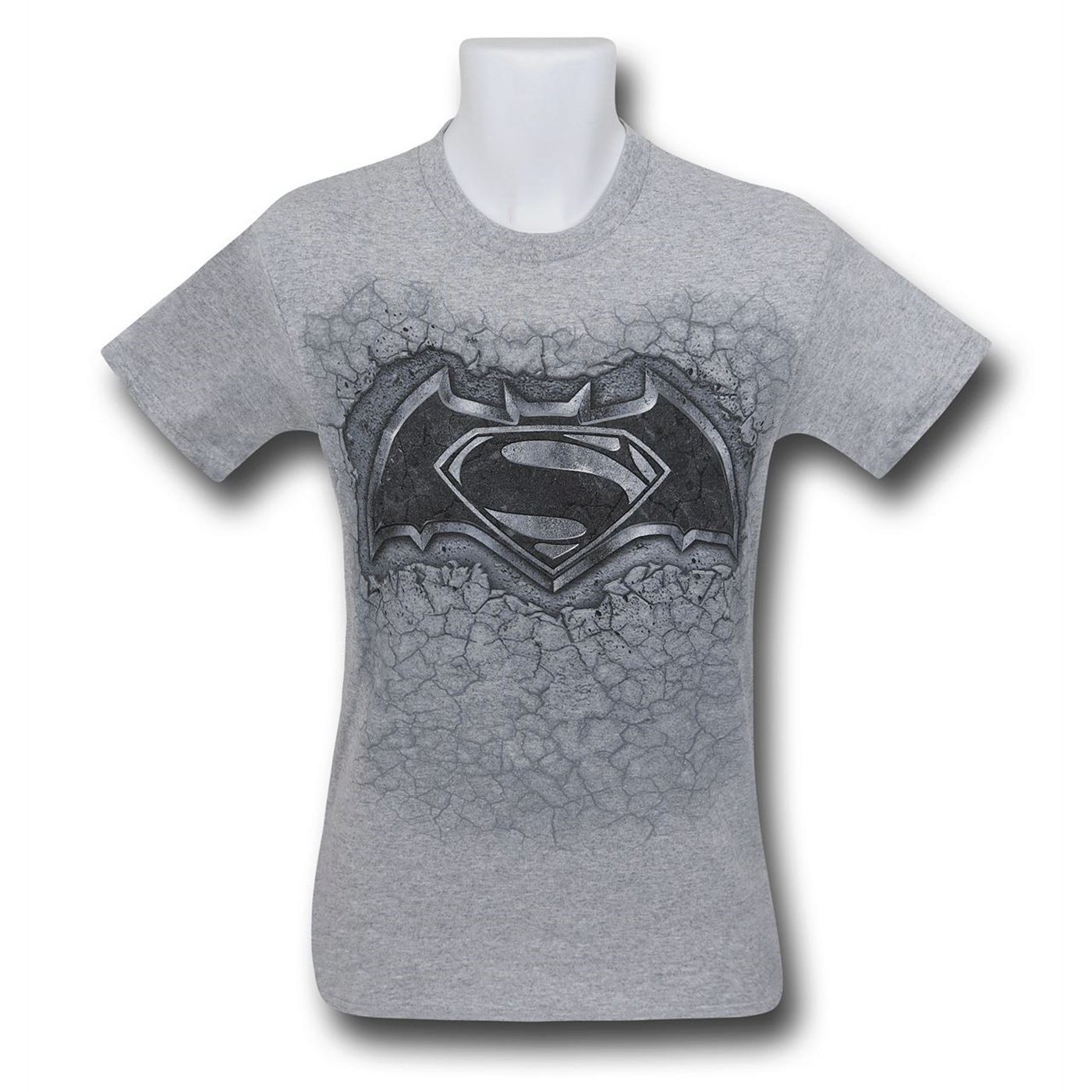Batman Vs Superman Concrete Symbol T-Shirt