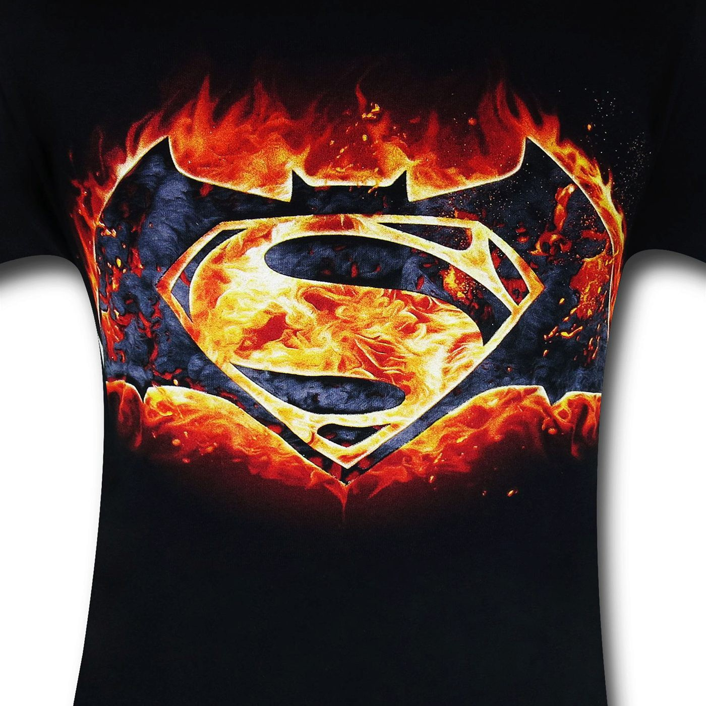 Batman Vs Superman Fire Symbol T-Shirt