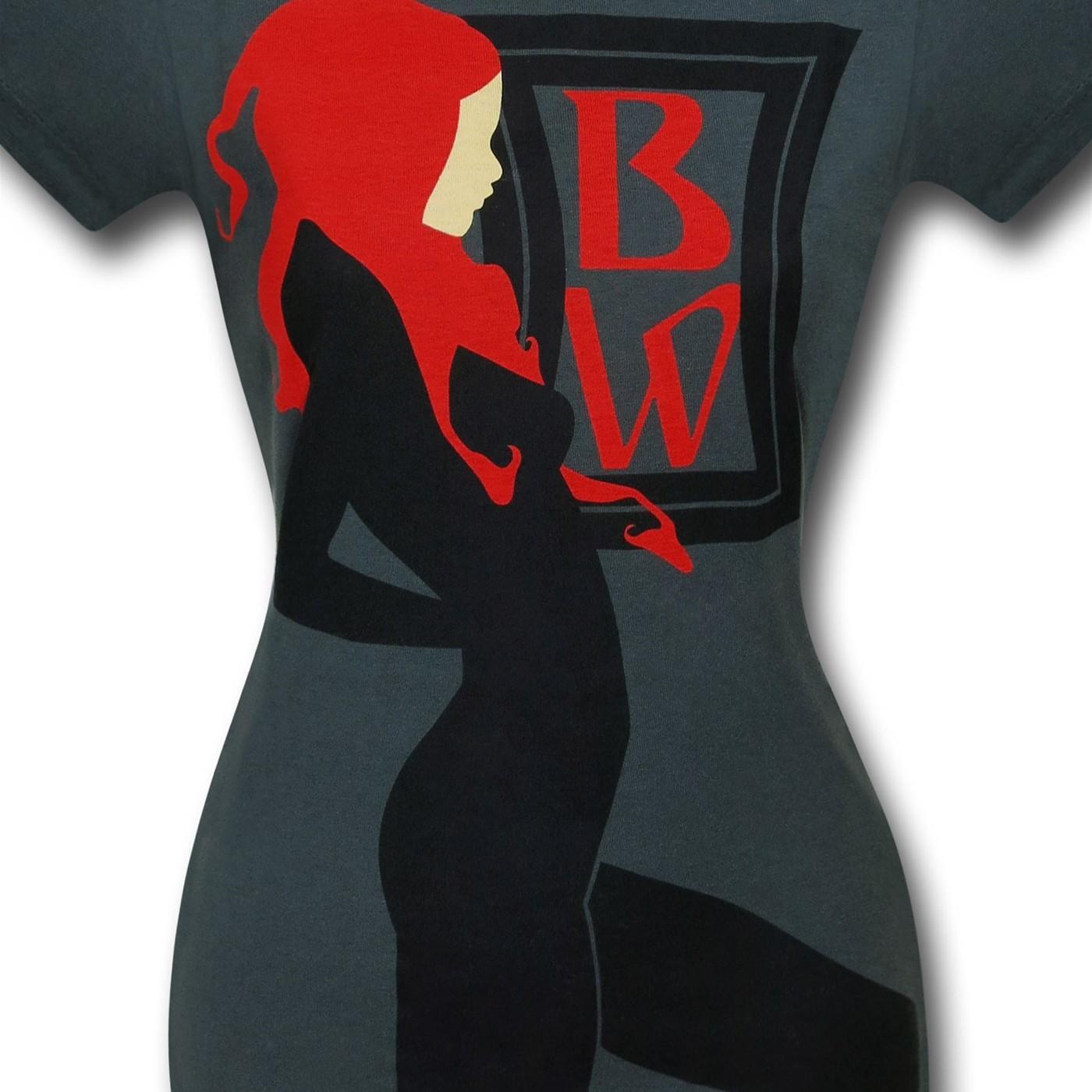 Black Widow Art Nouveau Women's T-Shirt