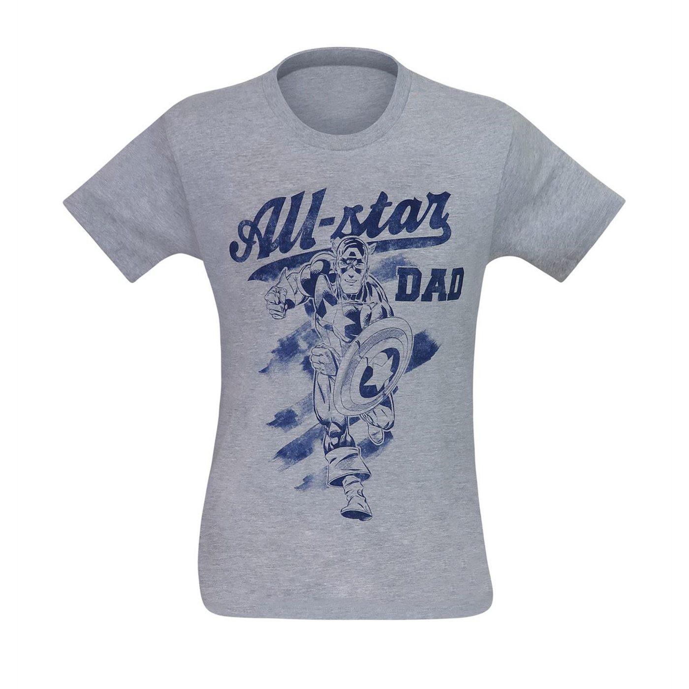 Captain America All-Star Dad Men's T-Shirt