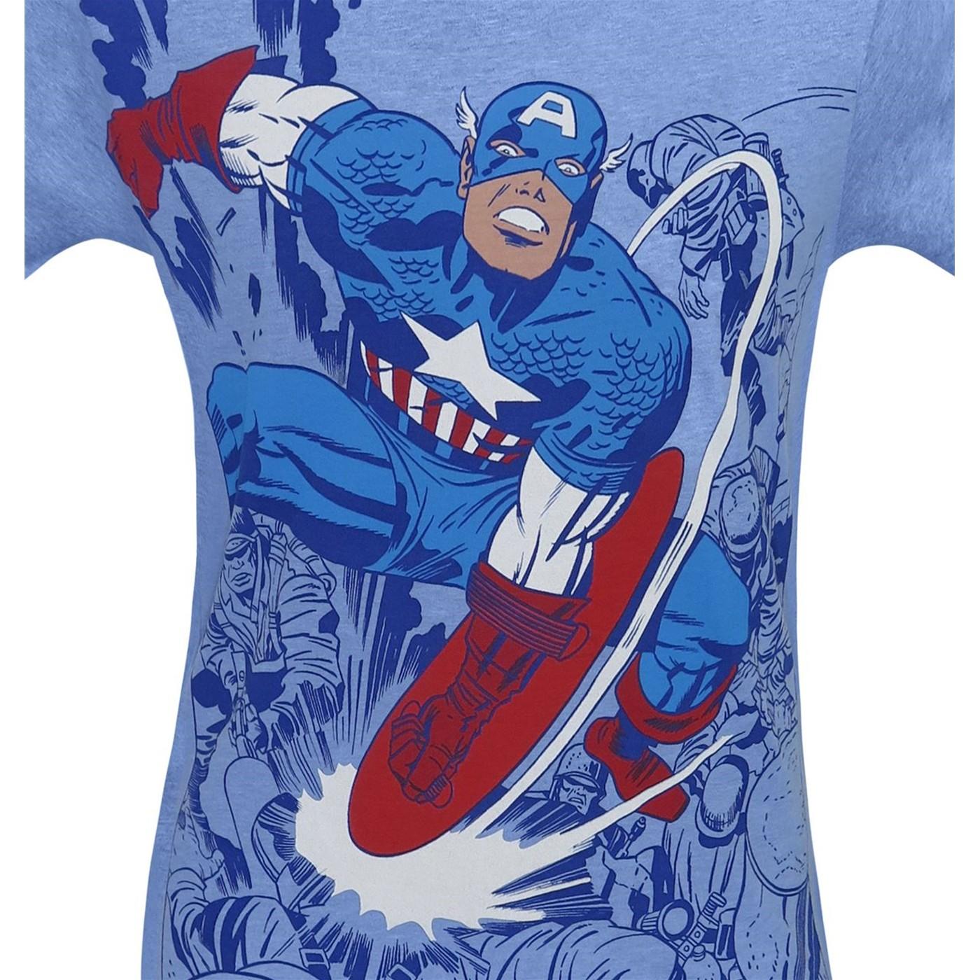 Captain America Battle Men's Sublimated T-Shirt