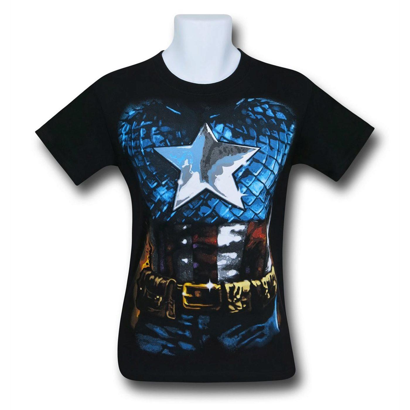 Captain America Costume T-Shirt