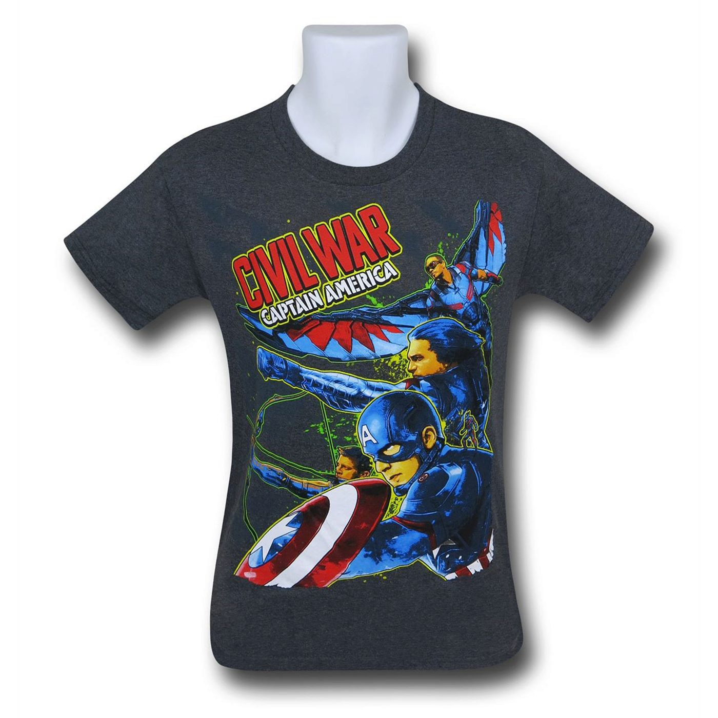 Captain America Civil War Run Kids T-Shirt