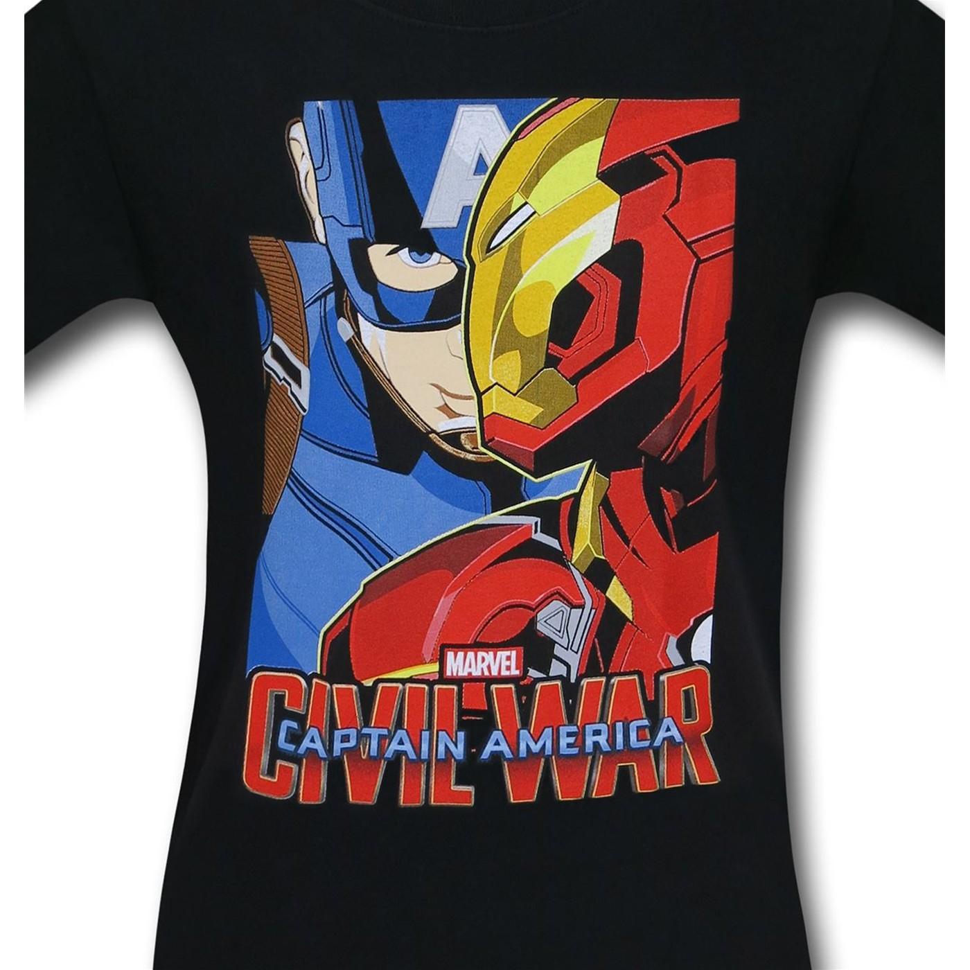 Captain America Civil War Broken Brothers Kids T-Shirt