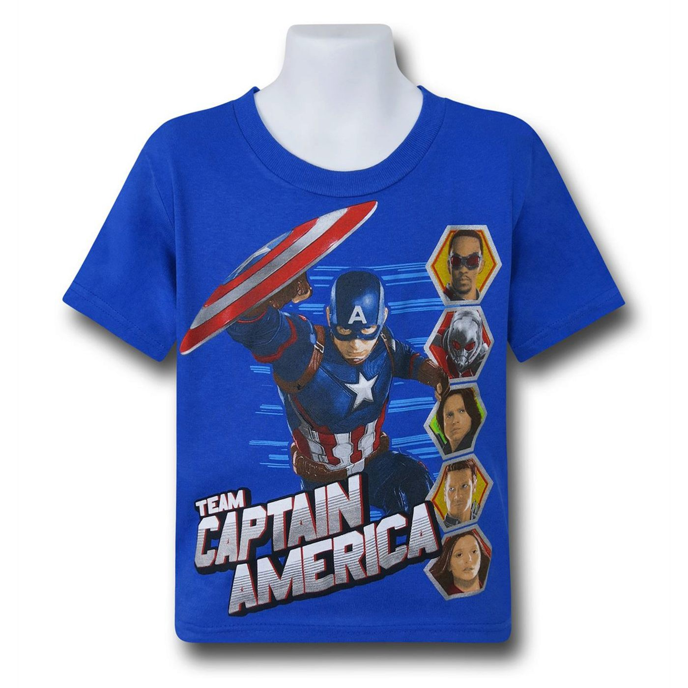 Captain America Civil War Team Cap Kids T-Shirt