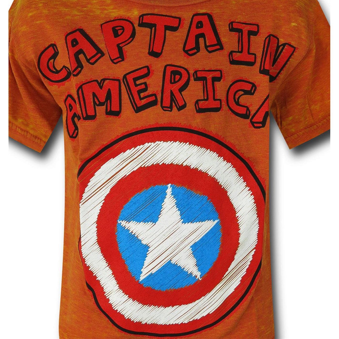 Captain America Shield Burnout Kids T-Shirt