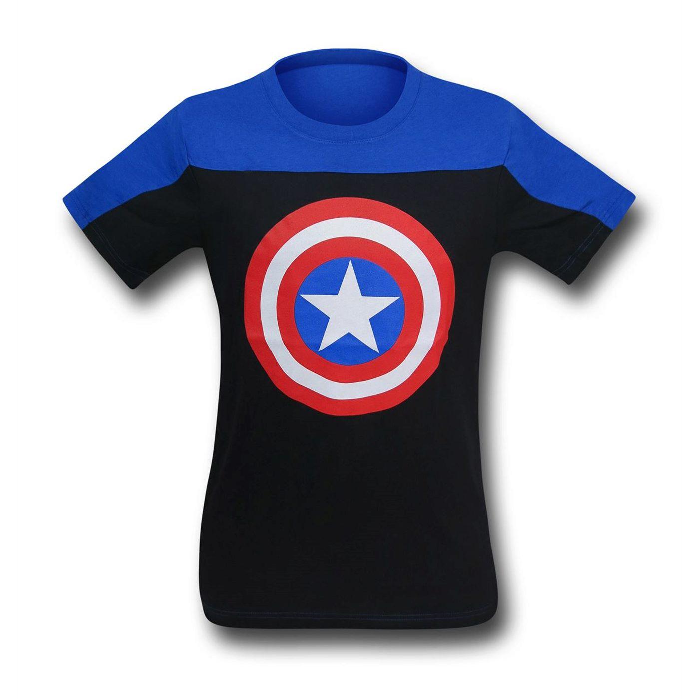 Captain America Shield Two-Tone Men's T-Shirt