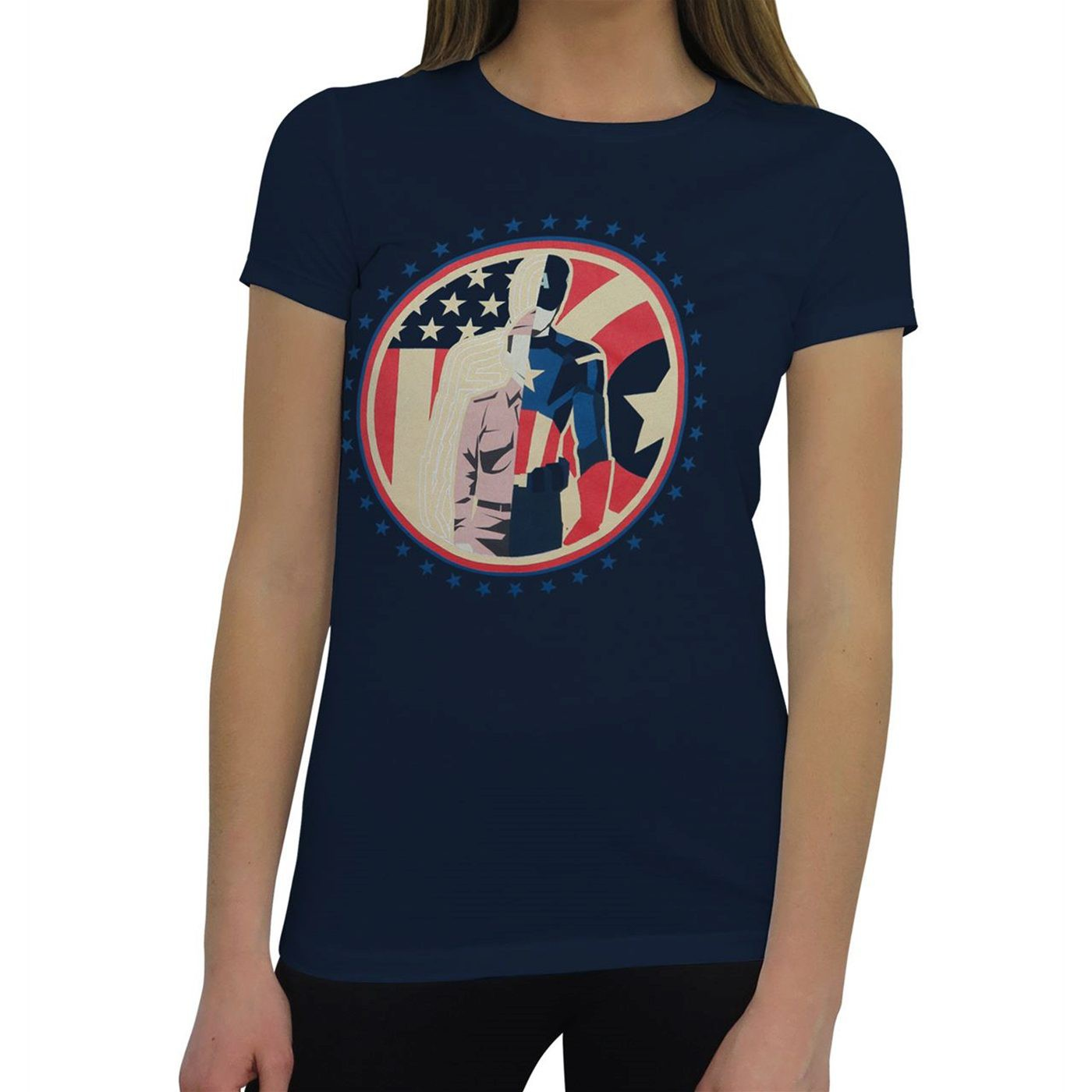 Captain America Steve Rogers Split Women's T-Shirt