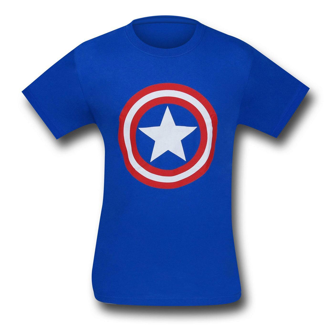 Captain America Symbol Royal Blue T-Shirt