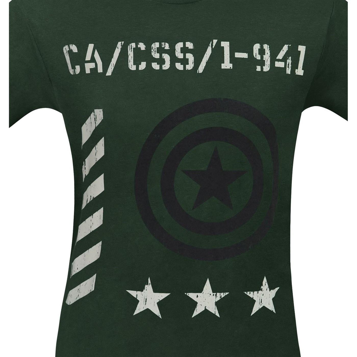 Captain America Vintage Military Men's T-Shirt