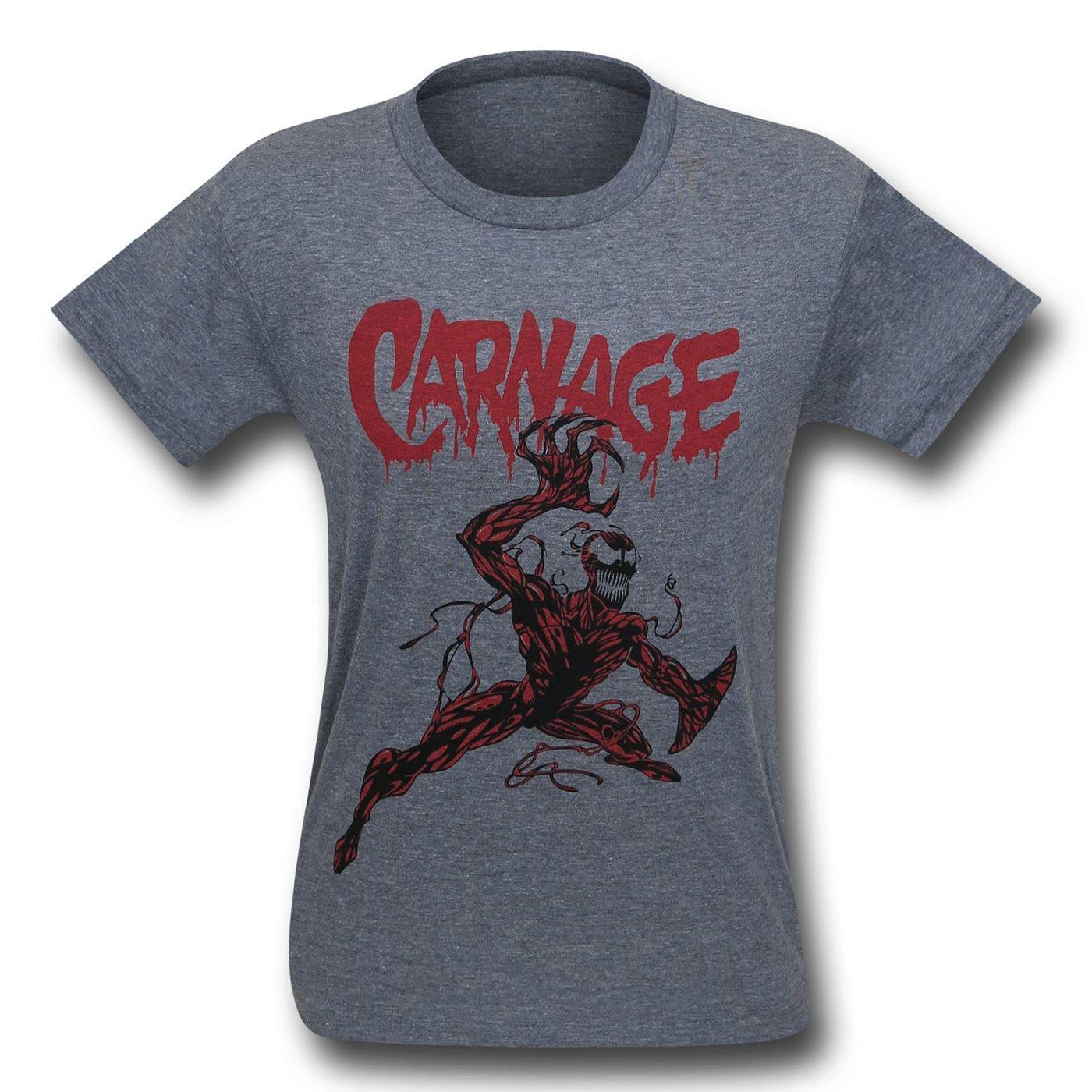 Carnage Action Pose Tri-Blend T-Shirt
