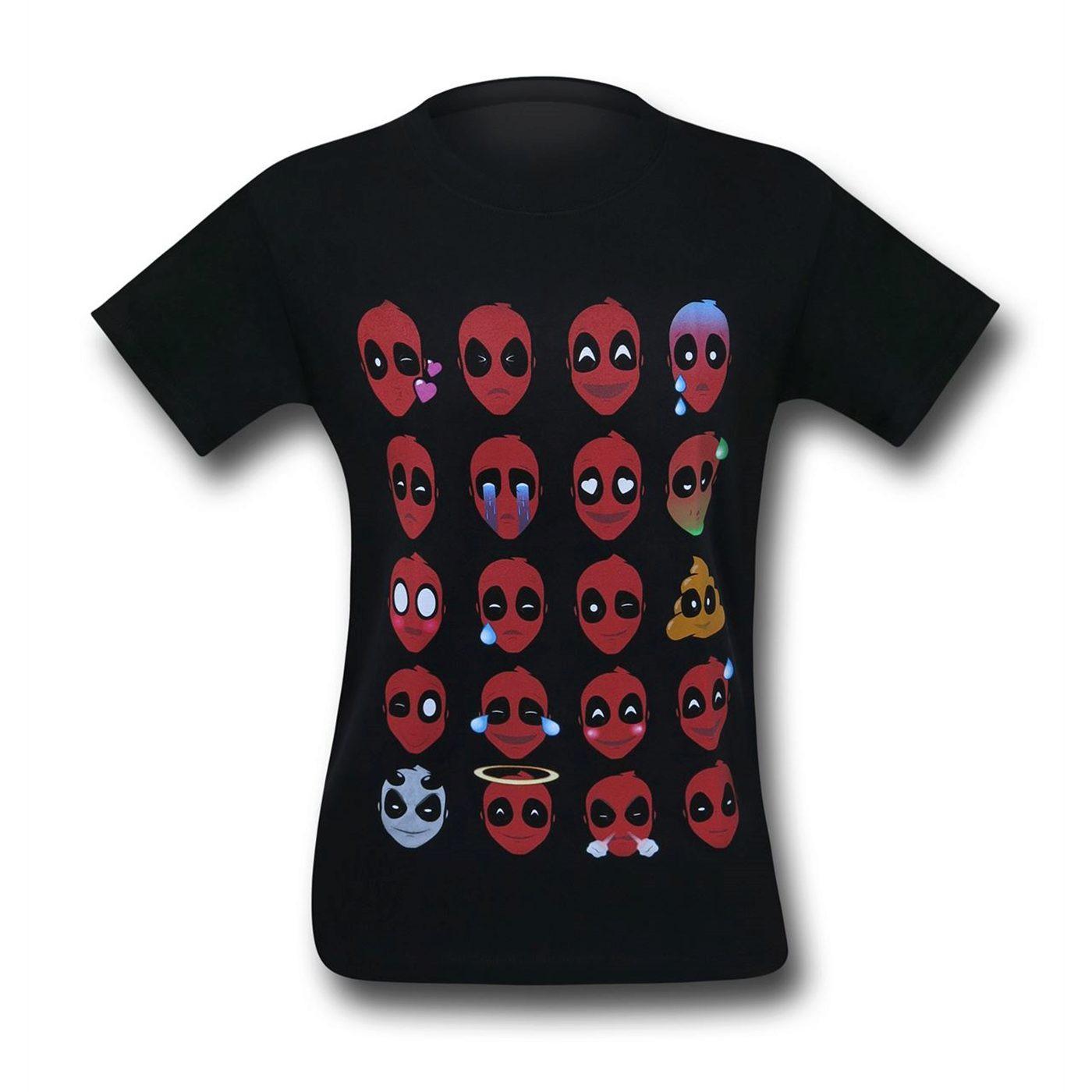 Deadpool Emojis T-Shirt