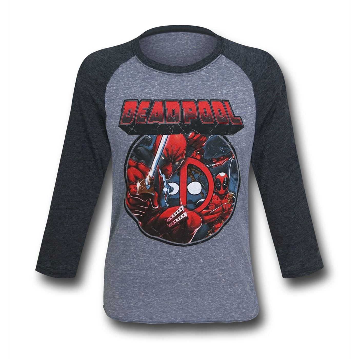 Deadpool Image Circle Baseball T-Shirt