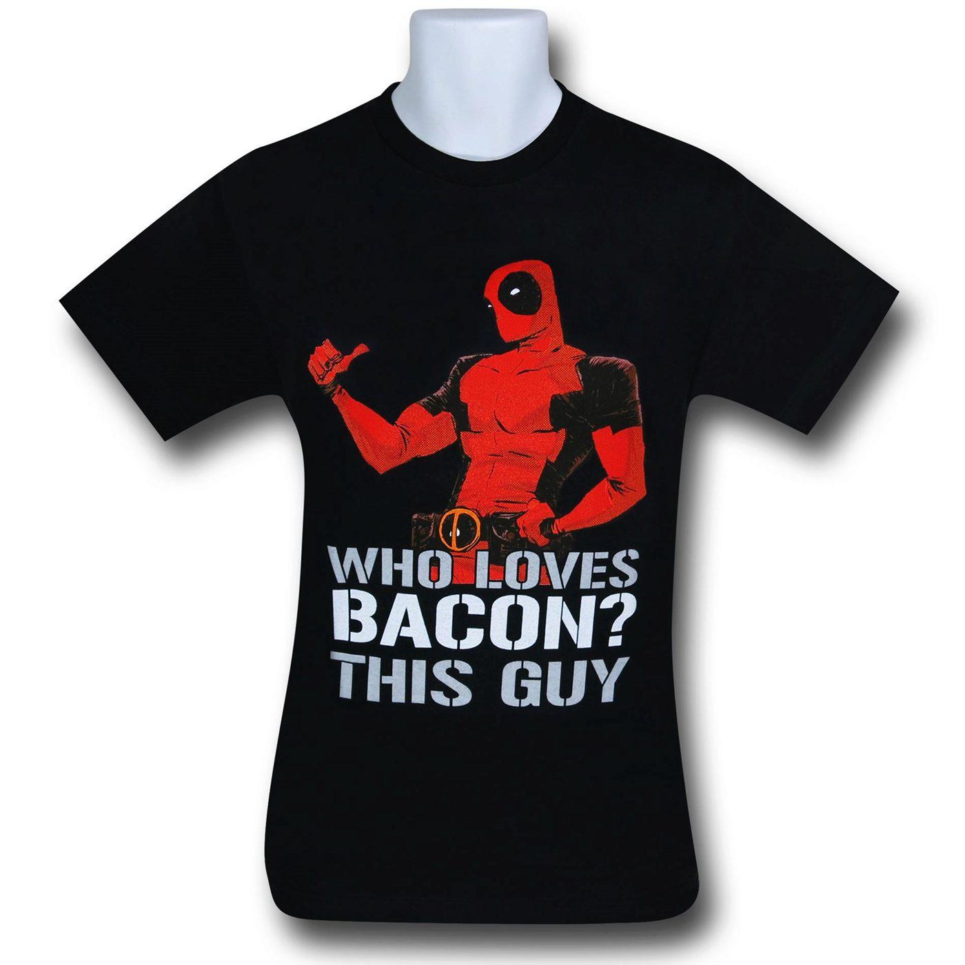 Deadpool Loves Bacon 30 Single T-Shirt