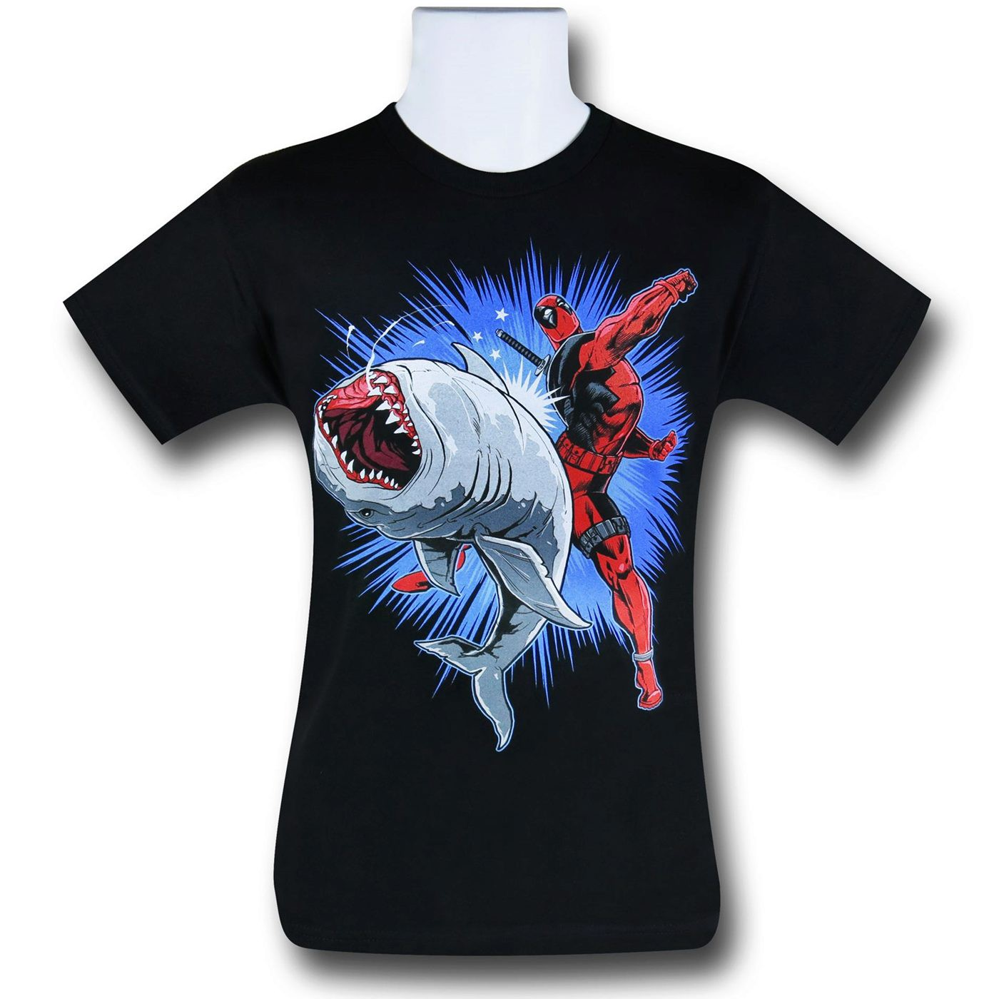 Deadpool Shark Punch 30 Single T-Shirt