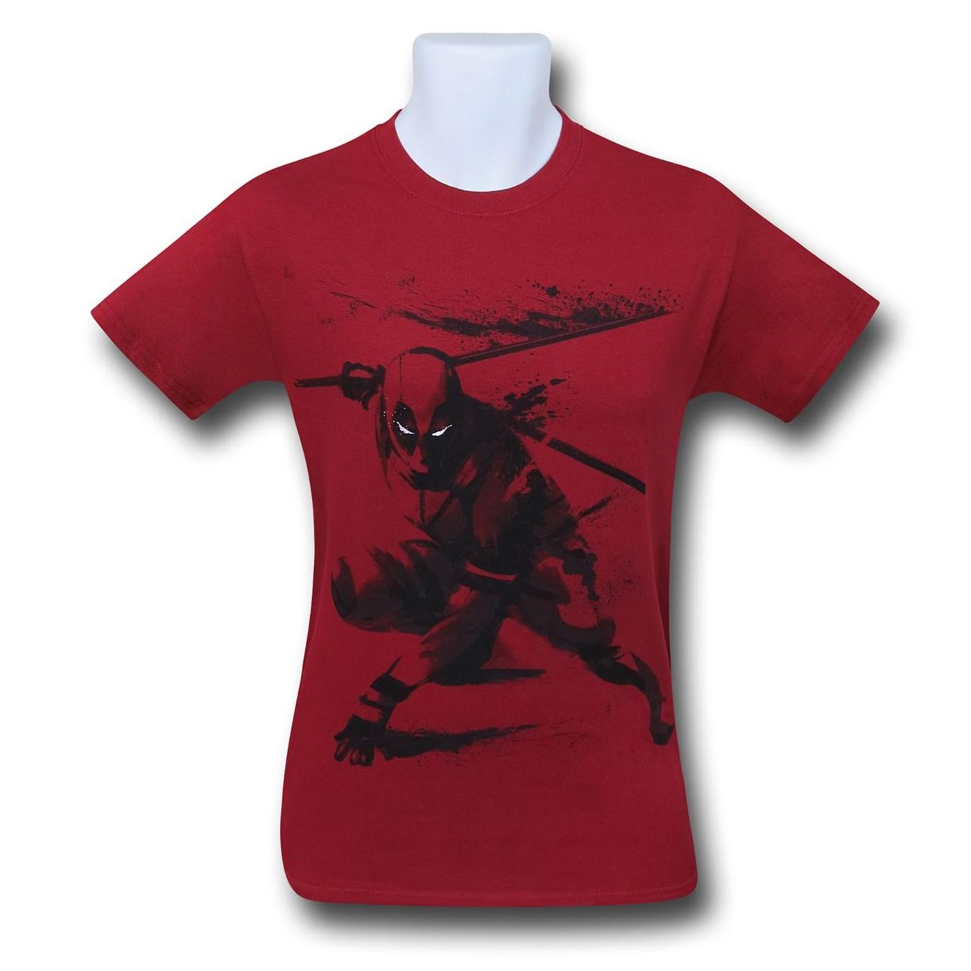 Deadpool Sword Slash T-Shirt