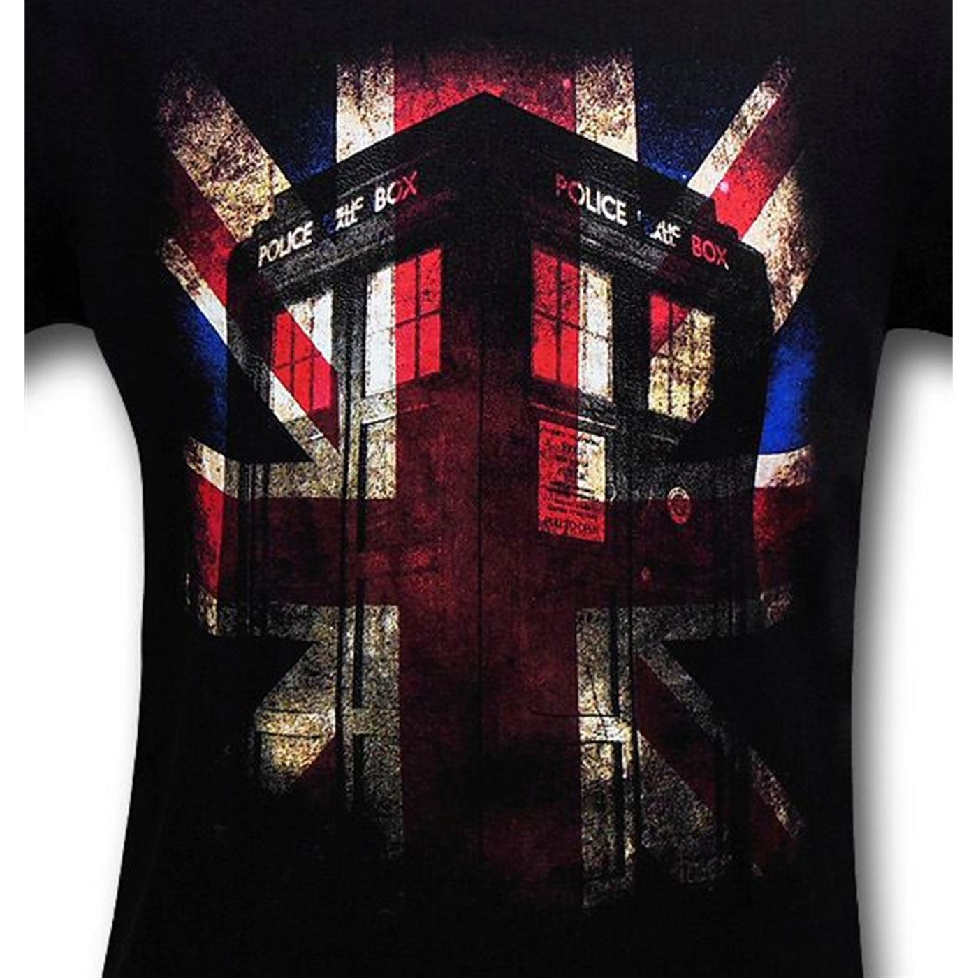 Doctor Who Union Jack Tardis T-Shirt