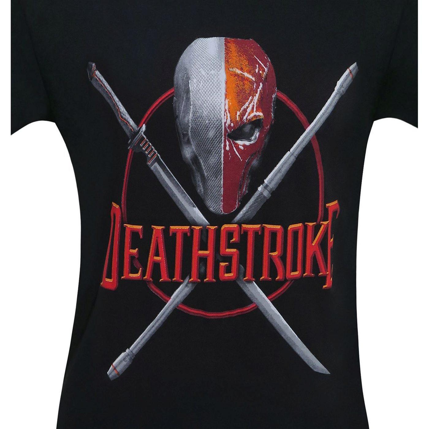 Deathstroke Weapons Crossed Men's T-Shirt