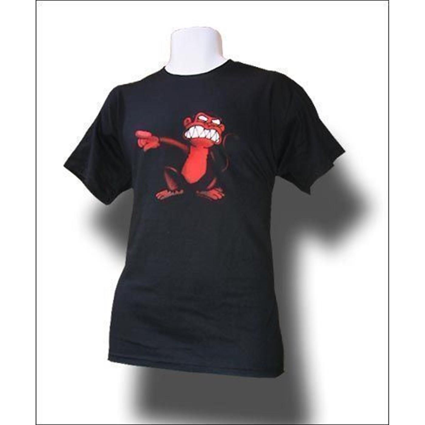 Red Evil Monkey t-shirt