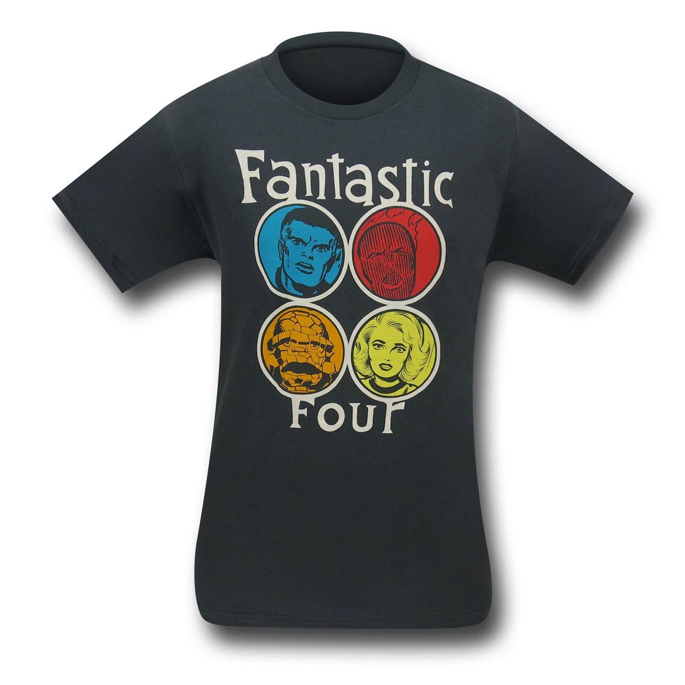 Fantastic Four Circle Heads (30 Single) T-Shirt