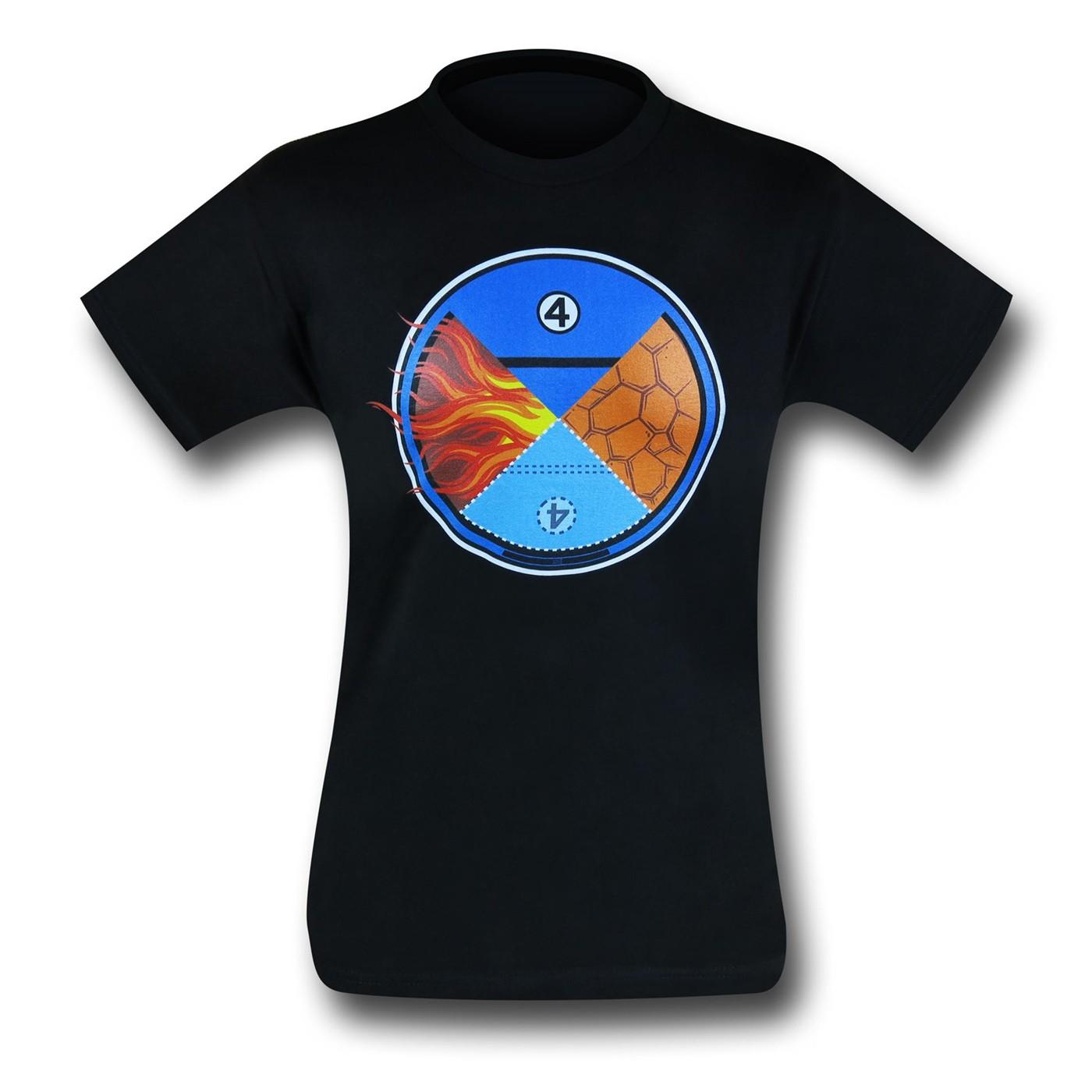 Fantastic Four Hero Quadrant 30 Single T-Shirt