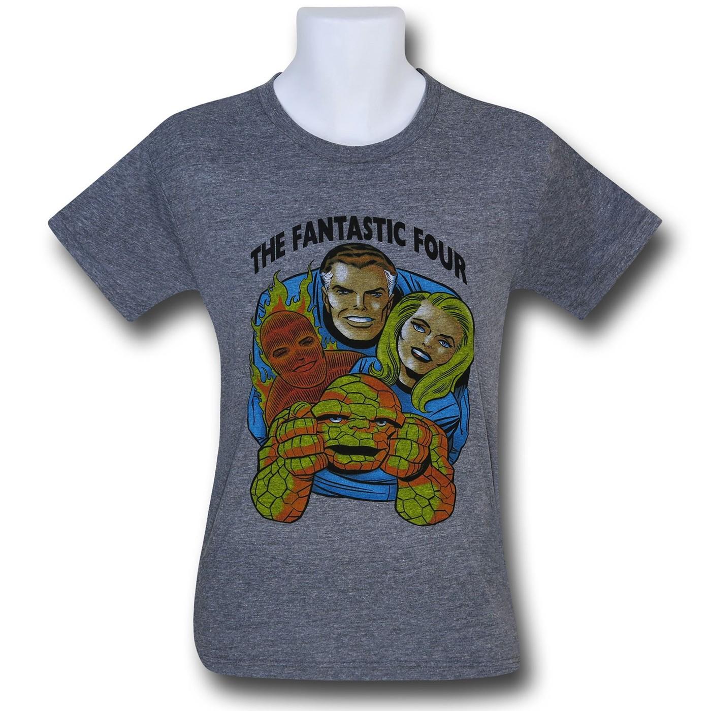 Fantastic Four Heather Tri-Blend T-Shirt