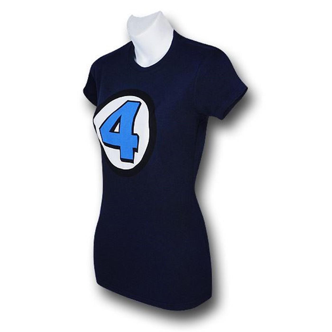Fantastic Four Navy Women's 30 Single T-Shirt