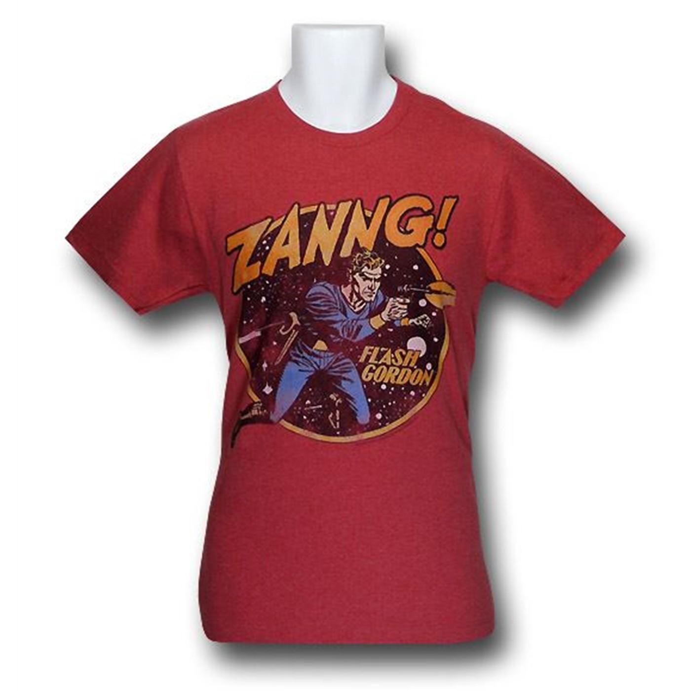 Flash Gordon ZANNG! Distressed 30 Single T-Shirt
