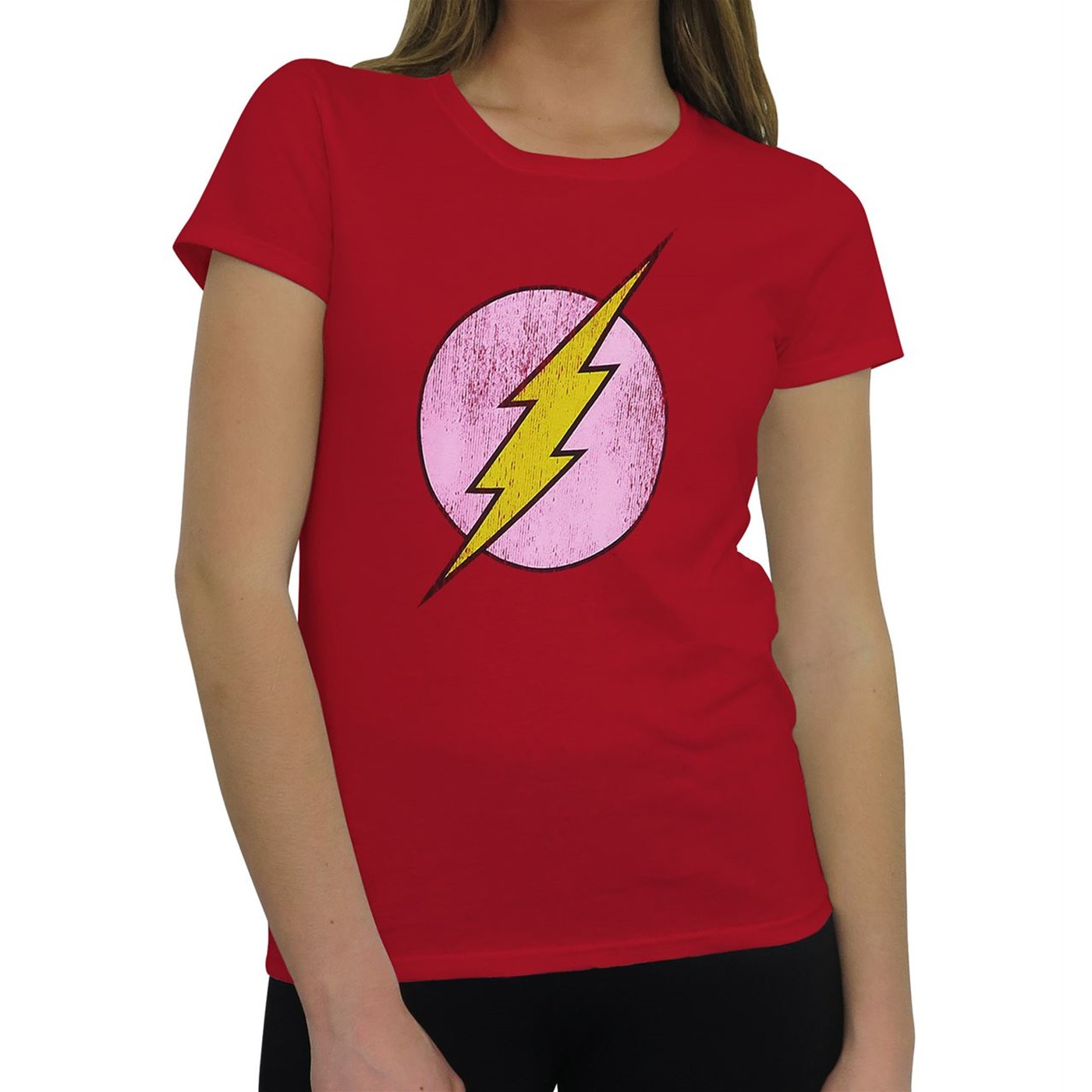 Flash Distressed Symbol Factory Second Women's T-Shirt
