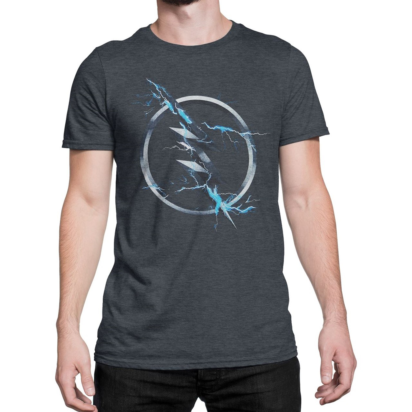 Flash Zoom Symbol Charcoal Men's T-Shirt