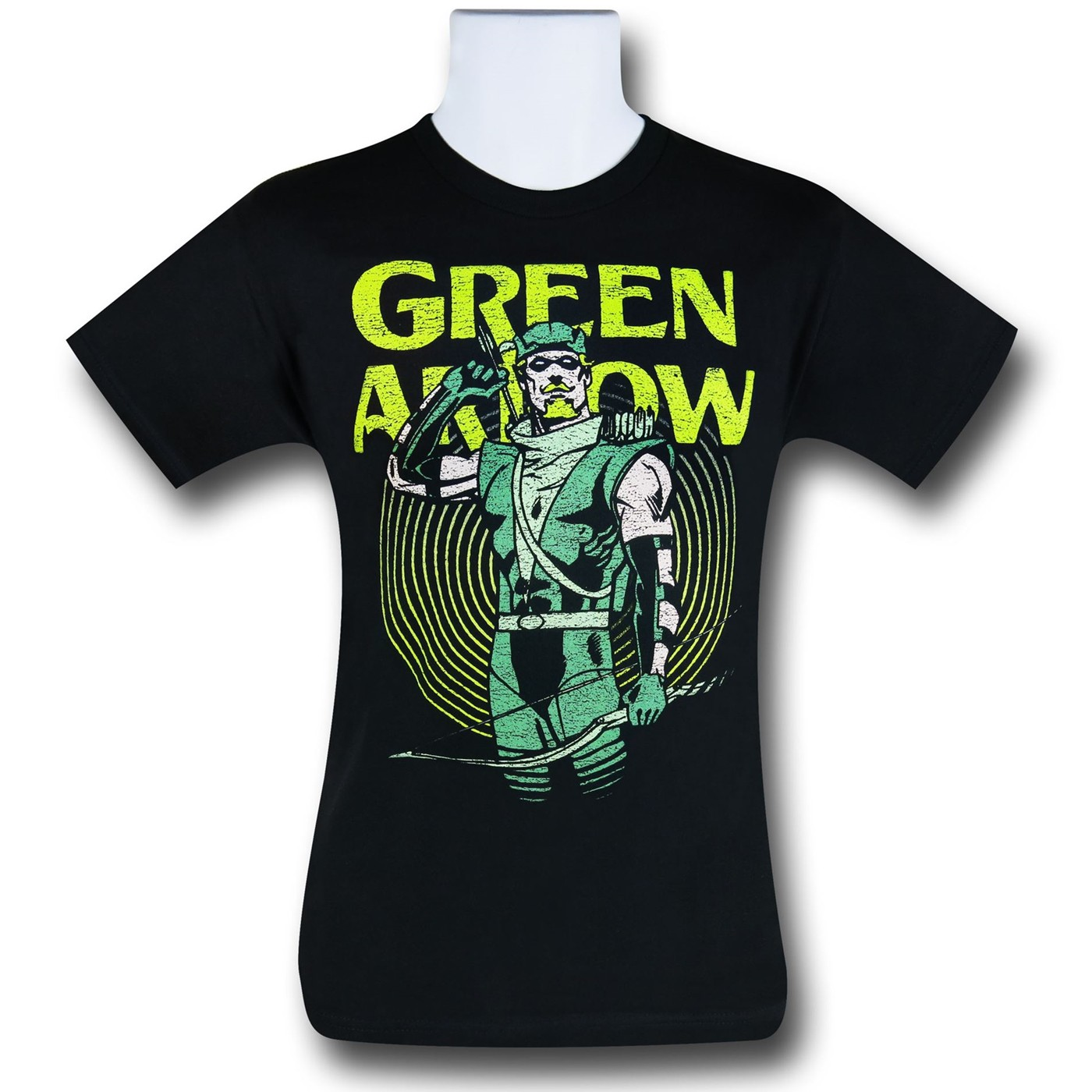 Green Arrow In Yellow Circle T-Shirt