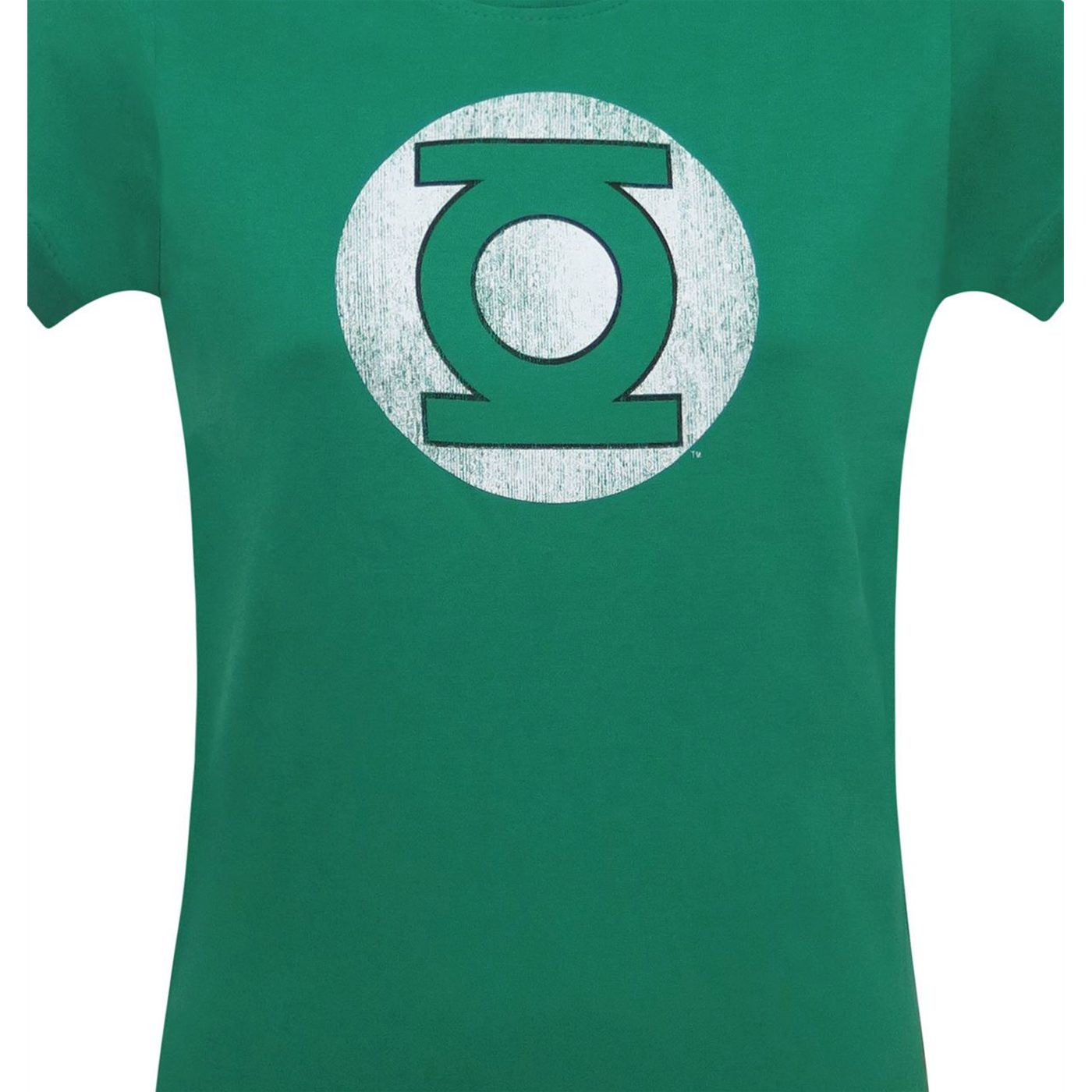 Green Lantern Dark Green Distressed Symbol Women's T-Shirt