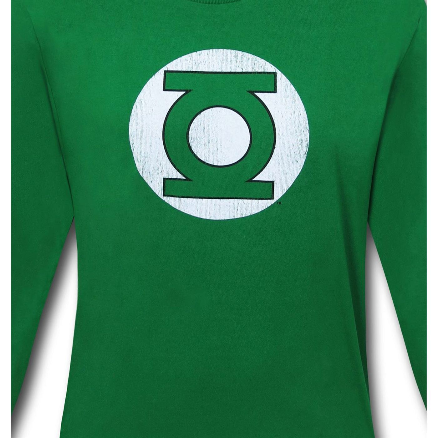 Green Lantern Distressed Symbol Long Sleeve T-Shirt