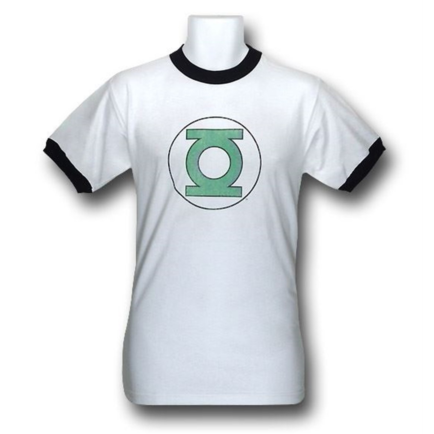 Green Lantern Distressed Symbol Ringer T-Shirt