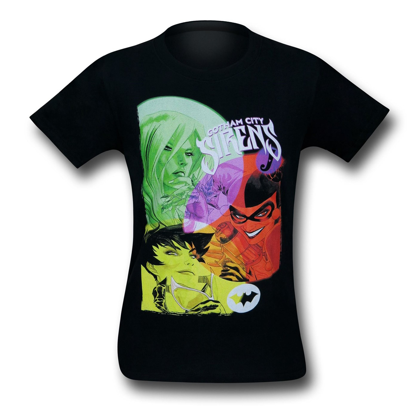 Gotham City Sirens Retro Black T-Shirt